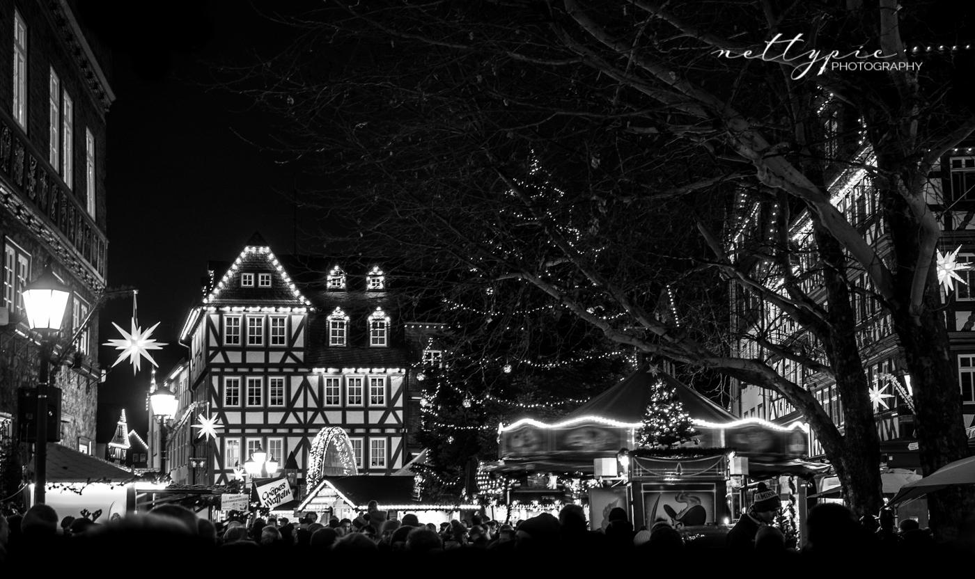 Herborner Weihnachtsmarkt 2018 – monochrom